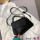 熱賣斜背包 高級質感斜背包包女包2021新款潮韓版時尚休閒百搭簡約側背鍊條包 coco