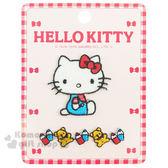 〔小禮堂〕Hello Kitty 燙布貼《2入.側坐/長條小熊.鉛筆》 4972873-65571
