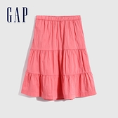 Gap女童 甜美純棉寬鬆長裙 692313-暖粉色