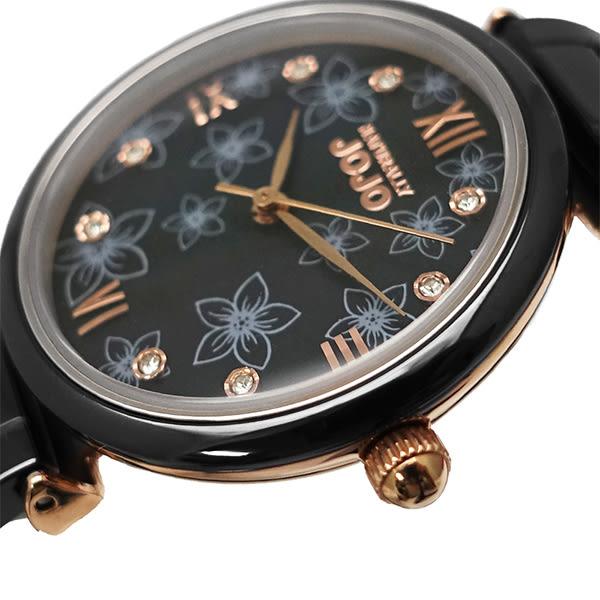 【台南 時代鐘錶 Naturally JOJO】紐約的黑與白 花樣盛會時尚陶瓷腕錶 JO96901-88R 黑 32mm