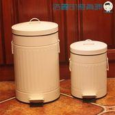 雙十二狂歡彩色加厚垃圾桶家用腳踏復古郵筒【洛麗的雜貨鋪】