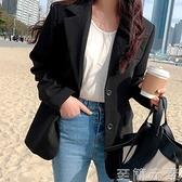 小西裝新款外套女韓版炸街套裝職業小個子黑色休閒西服上衣秋