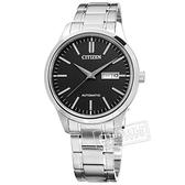 CITIZEN 星辰表 / NH7520-56E / 機械錶 自動上鍊 藍寶石水晶玻璃 日期星期 不鏽鋼手錶 黑色 40mm