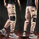 經典潮流美式軍裝風格拼色口袋造型百搭休閒褲