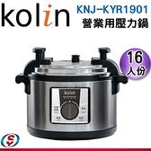 16人份【Kolin 歌林】 營業用壓力鍋 KNJ-KYR1901 / KNJKYR1901