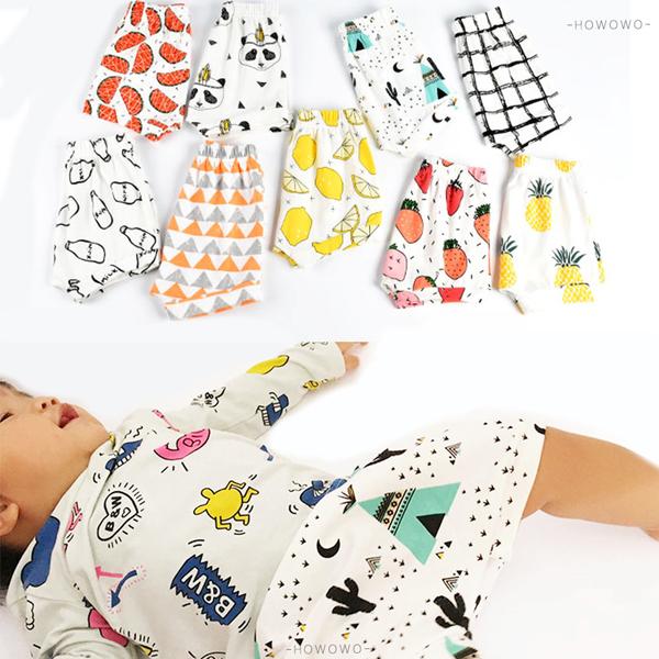 嬰兒短褲 幾何卡通 寶寶短褲 棉質透氣寶寶短褲 休閒短褲 (SK098) 好娃娃