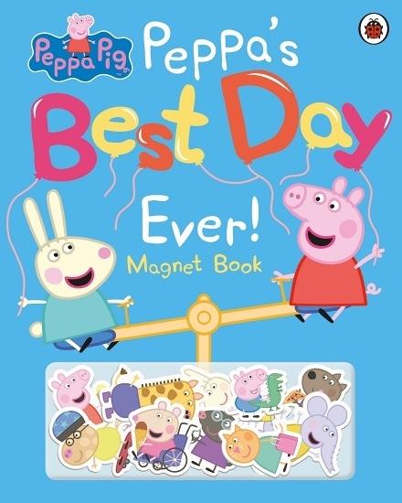 Peppa Pig:Peppa's Best Day Ever Magnet Book 佩佩豬最美好的一天磁鐵書