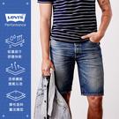 Levis 男款 505寬鬆直筒牛仔短褲 / Cool Jeans 輕彈有型 / 復古刷白
