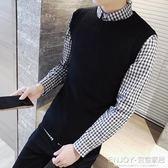 男士毛衣針織背心  韓版男裝無袖毛線背心男士針織毛衣馬甲男青年修身坎肩 宜室家居