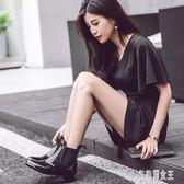 雨鞋女士夏季外穿雨靴女低幫個性時尚防滑防水靴膠鞋切爾西靴CY270【艾菲爾女王】
