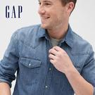 Gap男裝創意波點翻領長袖襯衫536744-粉藍紫主題