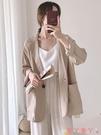 西裝外套 女裝外套2021時尚新款潮女士網紅薄款小西裝韓版寬鬆女生西服上衣 愛丫 免運