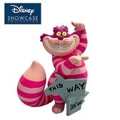 【正版授權】Enesco 柴郡貓 THIS WAY 迷你塑像 公仔 精品雕塑 塑像 妙妙貓 愛麗絲夢遊仙境 - 282647