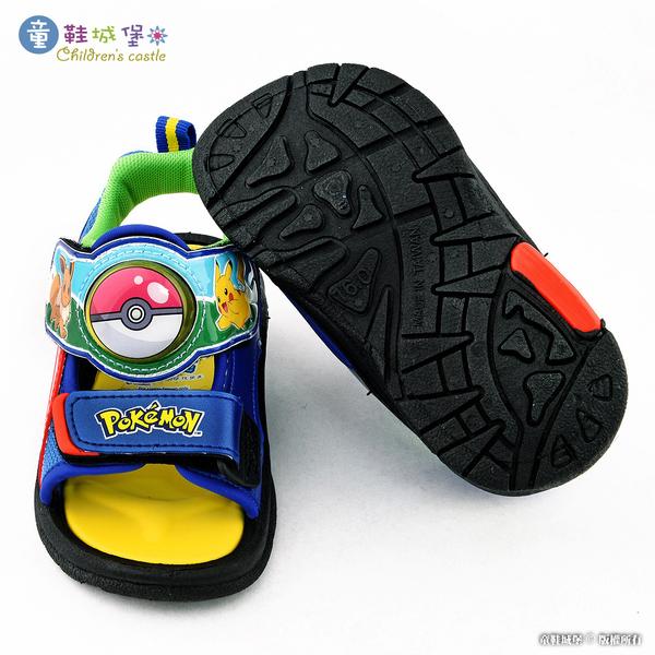 童鞋城堡-寶貝球 LED燈涼鞋 神奇寶貝(寶可夢) PA3577 藍
