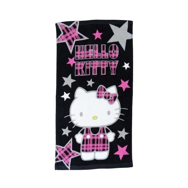 【Sanrio三麗鷗】凱蒂貓蘇格蘭風格童巾 100%棉 28x54cm