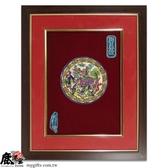 鹿港窯-居家開運商品-台灣國寶交趾陶裝飾壁飾-立體框【M四寶麒麟】◆附精美包裝◆免運費送到家