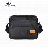 【COLORSMITH】BR.多夾層機能側背包.BR1095-BK-S