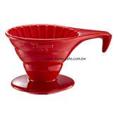 金時代書香咖啡   TIAMO V02長柄陶瓷咖啡濾器組 (紅))附濾紙量匙  HG5534R