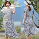 洋裝-棉質印花長裙/設計家 Q8470