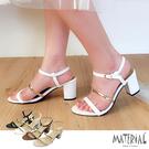 跟鞋 細帶繞踝圓頭跟鞋 MA女鞋 T58...