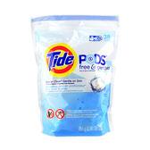 美國 Tide 汰漬 洗衣凝膠球3合1(38粒裝) 敏感膚質用/無香料色素 ◆86小舖 ◆ 超強洗淨力