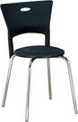 HY-Y317-7  維亞餐椅(黑色/電鍍)