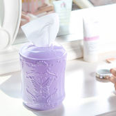 ✭米菈生活館✭【P395】蝴蝶雕花系列-圓筒抽紙巾盒 壓克力 桌面 整理盒 防塵 分類 梳妝台 女生