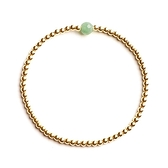 9K金手鍊-串珠-一見清心翡翠綠松石金珠女手環2款73yl14【時尚巴黎】