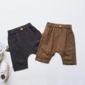 夏季新品男女寶寶中小童兒童休閒寬鬆棉麻透氣短褲開開檔童褲褲子