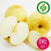 (產銷履歷)竹塘黃金梨8粒共5台斤-香脆甜的水梨