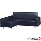 【采桔家居】波多  時尚皮革L型沙發組合(三色可選+三人座+椅凳)