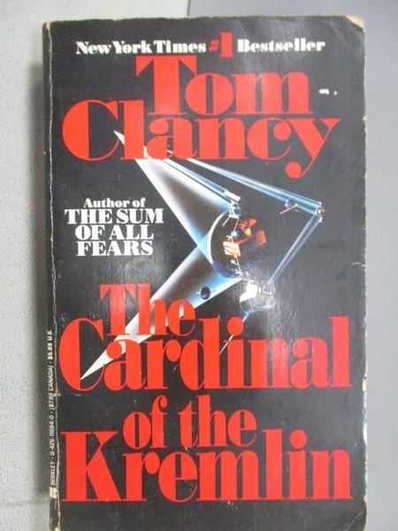 【書寶二手書T7/原文小說_MRX】The Cardinal of the Kremlin_Tom Clancy