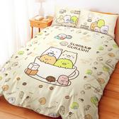床包 / 雙人【角落小夥伴咖啡杯-兩色可選】含兩件枕套  高密度磨毛  戀家小舖台灣製ABF201