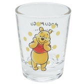 小禮堂 迪士尼 小熊維尼 日製 迷你杯璃杯 清酒杯 小酒杯 透明水杯 (黃 摸臉) 4942423-25902