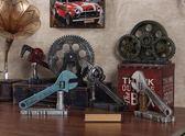 臥室擺飾復古LOFT工業風機械齒輪創意客廳餐廳櫥窗軟裝飾品 晴天時尚館