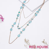 Red House 蕾赫斯-藍色海洋多層次項鍊(水藍色)