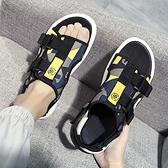 男士涼鞋夏季時尚沙灘鞋兩用2020新款涼拖外穿潮流ins拖鞋男室外 草莓妞妞