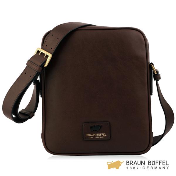 【BRAUN BUFFEL】RAZNOR 雷諾系列斜背包 - 咖啡 BF343-17-BR