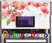 壁貼【橘果設計】女人花 DIY組合壁貼/牆貼/壁紙/客廳臥室浴室幼稚園室內設計裝潢
