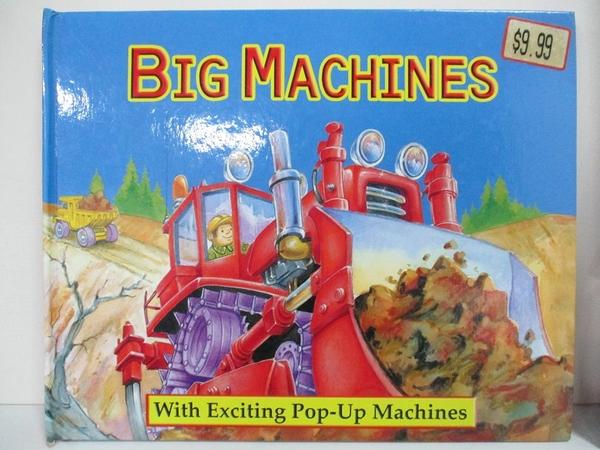 【書寶二手書T1/少年童書_KCM】Big Machines Pop Up_Philippa Jackaman