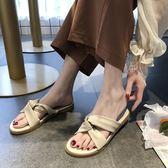 拖鞋女外穿ins潮網紅可濕水時尚百搭平底韓版涼拖鞋  伊衫風尚