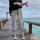 中大尺碼束腳褲 秋季薄款九分褲休閒褲子男韓版潮流寬鬆百搭港風學生哈倫男DF122【極致男人】