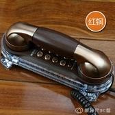 美思奇 復古壁掛式電話機 創意歐式仿古老式家用掛墻有線固定座機 創時代3c館