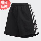 【現貨】Adidas ADICOLOR LOGO 女裝 短褲 休閒 三葉草 口袋 黑【運動世界】FM2595