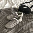 帆布鞋街拍超火李圣經帆布鞋港風復古灰色絨面休閒滑板鞋女 貝兒鞋櫃