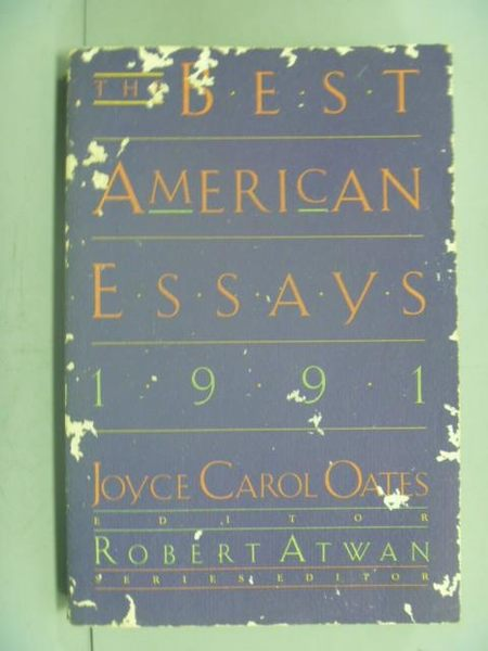 【書寶二手書T6/原文書_LEG】The Best American Essays 1991_Joyce Carol O