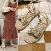 小清新少女兩穿拖鞋平底沙灘鞋女 海邊 時尚涼拖鞋 小宅妮時尚
