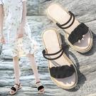 涼鞋女夏時尚外穿平底百搭仙女鞋學生涼拖鞋 快速出貨