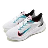 Nike 慢跑鞋 Wmns Zoom Winflo 7 白 綠 女鞋 運動鞋 【ACS】 CJ0302-102