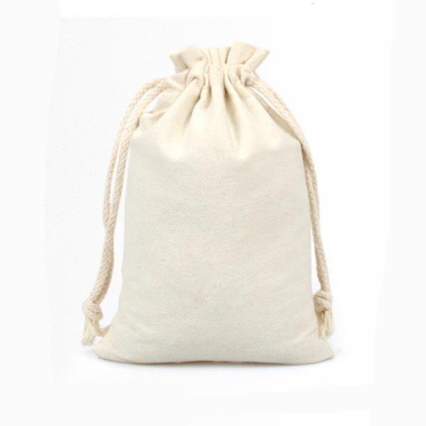 【DE391】麻布袋15x20CM 棉布束口袋 拉繩袋 收納袋 咖啡豆袋 禮品袋 米袋 EZGO商城